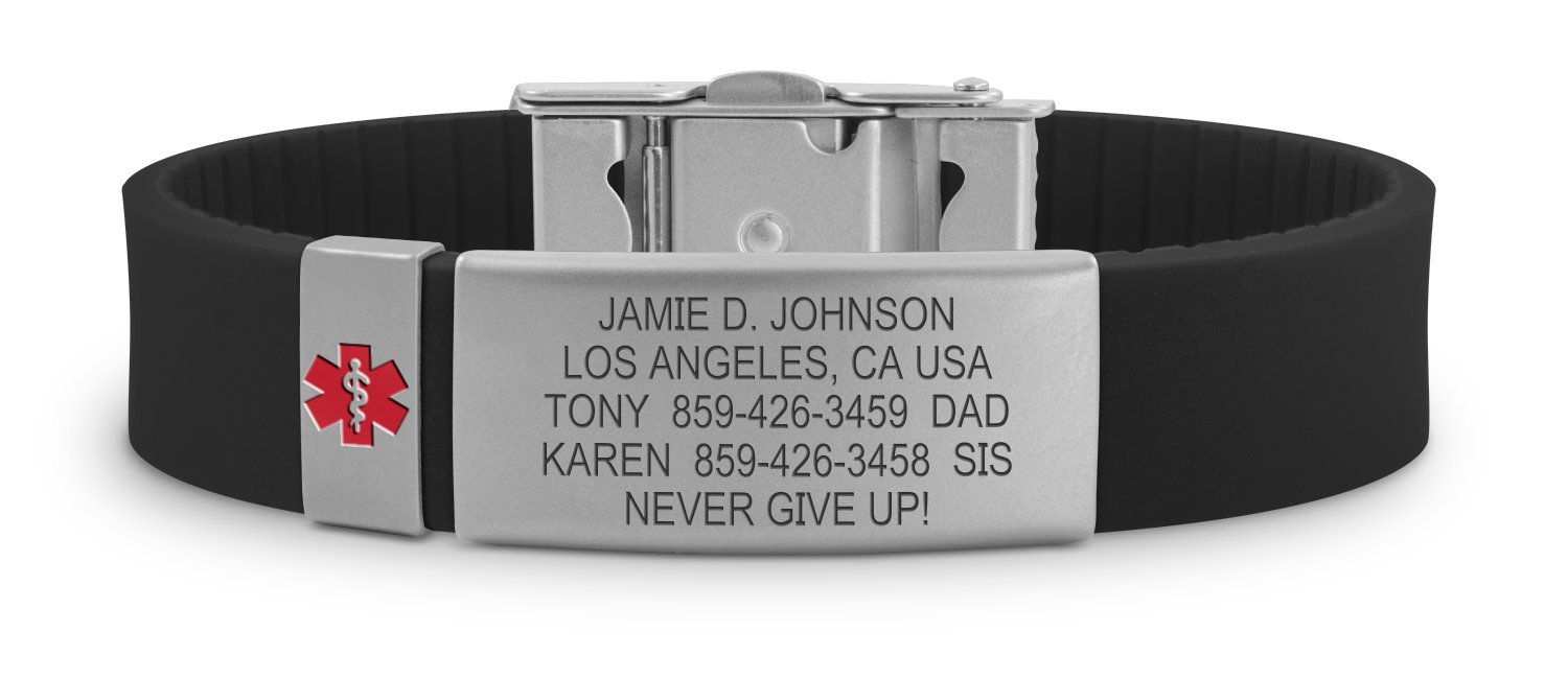 classic stainless road elite id bracelet information products